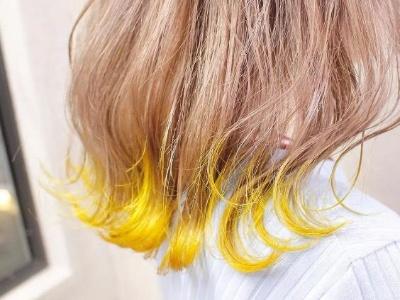 时髦酷炫黄色染发 打造极致潮发色
