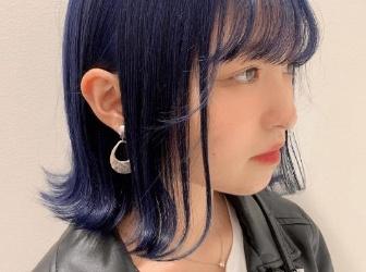 高人气蓝黑色染发 个性十足越看越时尚
