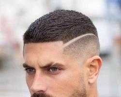 男生铲青短发发型 两边铲短设计酷炫帅气