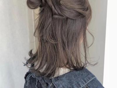 减龄半扎丸子头发型 元气满满打造少女范
