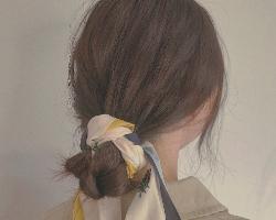 花苞头怎么扎好看 丝巾花苞头发型优雅迷人
