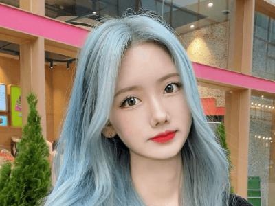 大波浪发型颜色推荐 浅蓝潮色染发造型最唯美