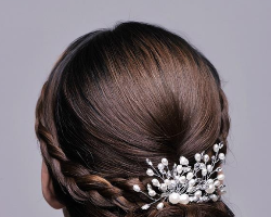 时尚唯美新娘盘发造型 高贵优雅惊艳众人