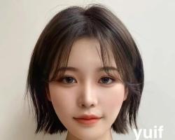 韩式减龄短发LOOK 修颜瘦脸造型随意凹